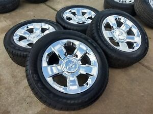 Oem 20 Chevy Chrome Rims And Goodyear Wrangler Sr a Tires P275 55r20