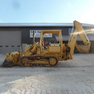 2000 John Deere 555g Track Loader One Owner Very Clean Machine Low Hour Backhoe