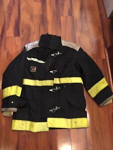 Firefighter Chieftain Stedair 2000 Turnout Bunker Coat 44x32 2003 Black Costume