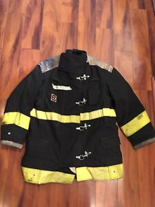 Firefighter Chieftain Stedair 2000 Turnout Bunker Coat 46x32 2003 Black Costume