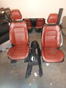 Ford Mustang Front Rear Seat Set Console Black Brown Leather Power 15 16 17
