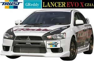 Greddy Hard Urethane Front Lip Spoiler 08 15 Mitsubishi Lancer Evolution Evo X