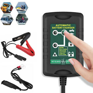 6v 12 Volt Trickle Battery Charger Maintainer Car Truck Motorcycle Mower