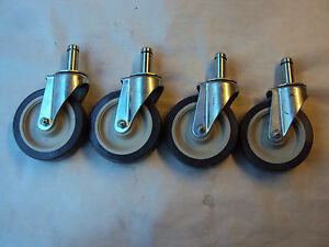 New Lot Of 4 E r wagne Swivel Caster 5 x1 1 4 7 8 stud 8 5 8 overall Height