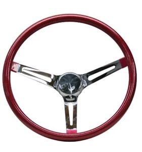 Mooneyes Red Metalflake Slotted Steering Wheel 15 Hot Rod Rat Vtg Gs270cmrd