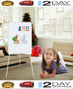 Dry Erase Board 24x36 Magnetic White Board W Tripod Stand Adjustable Height