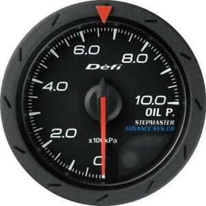 Defi Advance Cr 52mm Oil Pressure Gauge metric Black Df08102