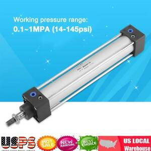 32mm Bore 200mm Stroke Screwed Piston Rod Pneumatic Air Cylinder Dual Action Usa