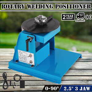 10kg Rotary Welding Positioner Turntable Kc 65 Chuck 0 90 Tilt 110v Brand New