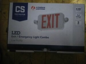 Lithonia Lighting Led Emergency Exit Light Combo battery Included
