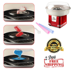 Nostalgia Cotton Candy Machine Kit With Hard Pop And Sugar Maker For Kids New
