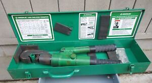 Greenlee Model 1989 Manual Hydraulic Dieless Crimper Hand Crimping Tool Case