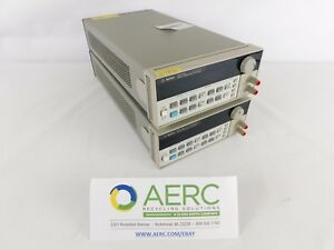 2 Lot Agilent 66312a Dynamic Measurement Dc Source 0 20v 0 2a Tested To Power On