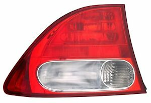 Rear Tail Light Left Driver Assembly Fits 2009 2011 Honda Civic Sedan Hybrid
