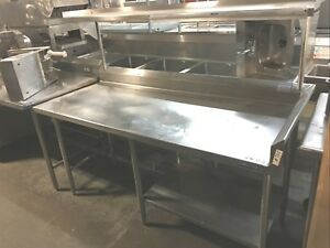 Table W t Upper Shelf Stainless steel Construction Body 72 30 35 h
