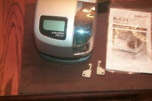 Amano Pix 55 Time Clock 2 Keys And Book