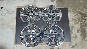 1 Set Of 4 New 09 10 11 12 13 Traverse 17 Hubcaps Wheel Covers Chrome 3284