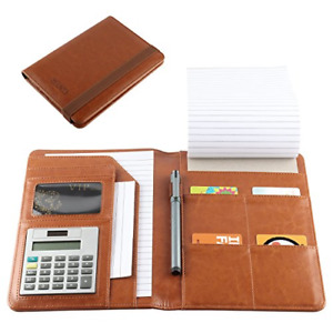 Leather Portfolio Small Notebook Padholder Junior Legal Notepad With 5 X 8 Note