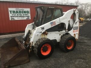 2004 Bobcat A300 All Wheel Steer Skid Steer Loader W Cab 2 Speed