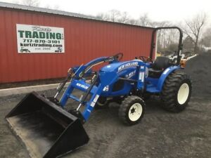 2016 New Holland Workmaster 37 4x4 Diesel Compact Tractor W Loader Only 100hrs