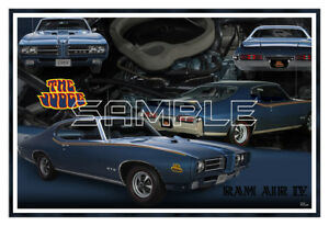 1969 Gto Judge Ram Air Iv Poster Print