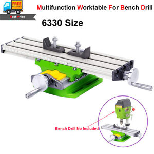 Milling Machine Vise Fixture Precision 2 Axis Cross Work Table For Bench Drill