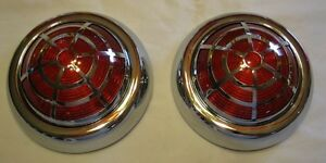 1950 Pontiac Vintage Style Led Tail Lights With Spider Overlay stop tail