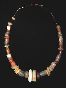 Pre Columbian Ancient Stone Bead Necklace Authentic 100