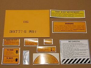 Ih International Harvester 2706 2806 21206 Chassis Decal Kit 397776r91