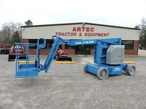 2012 Genie Z34 22n Articulating Boom Lift Nice Machine Very Low Hours