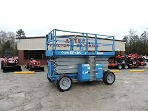 2008 Genie Gs4390 Scissor Lift Rough Terrain Generator Good Condition