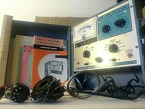 B k Model 465 Crt Tester With Manuals Adapters New
