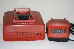 Hilti C4 36 Li ion Cpc Battery Charger With Working Battery For Cordless Tools