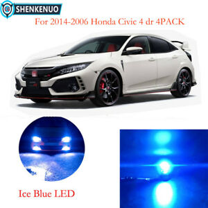 9005 9006 Ice Blue 8000k Led Headlight Kit Bulbs For 14 06 Honda Civic 4dr 4pack
