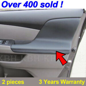2pcs Door Armrest Replacement Cover Leather For Honda Odyssey 2011 2017 Gray
