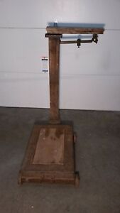 Vintage Antique Grain Feed Platform 1867 70 Howe Scale Co Rutland Vt No 8 1 2