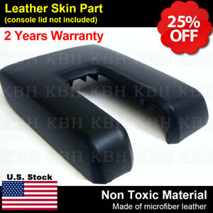 Armrest Center Console Lid Cover Synthetic Leather Fit Toyota Tundra 14 18 Black