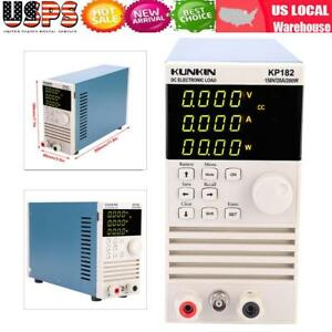Kp182 Single Channel Programmable Dc Electronic Load Test Meter 200w 150v 20a Us