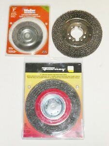 Lot Of 3 Crimped 8 And 5 Wire Wheel Brush Forney Weiler Vortec Pro
