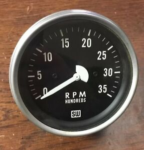 Stewart Warner Sw 3500 Rpm Tachometer Tach Mechanical New Clean Rat hot Rod