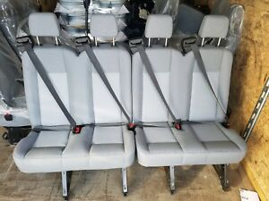 4 Passenger Gray Cloth Ford Transit Van Seats