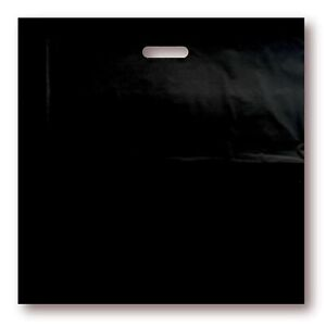 100 Pack 20 X 20 With 2 Mil Thick Extra Large Black Merchandise Plastic Glo