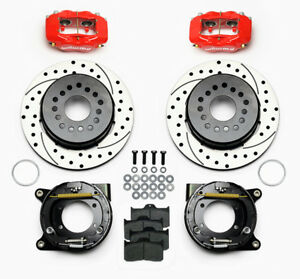 Wilwood Gm 10 12 Bolt Rear Disc Brake 4 Piston Calipers Drilled Slotted Rotors