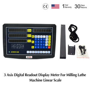 3 Axis Digital Readout Dro For Milling Lathe Machine Precision Linear Scales Sh