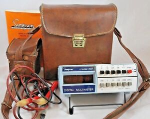 Simpson Multimeter 461 W Leather Case Leads Instruction Manual Vintage Untested