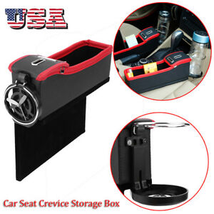 Car Seat Crevice Box Storage Cup Drink Holder Organizer Auto Pocket Stowing