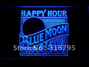 661 Blue Moon Beer Happy Hour Bar Led Neon Sign With On off Switch 20 Colors 5
