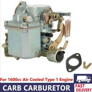 34 Pict 3 Carburetor For Vw Beetle 1600cc Air Cooled Type 1 Dual Port 113129031k