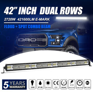 Penda Rows 42 inch 4352w Led Light Bar Cree Combo Beam Offroad Truck Boat Suv 40