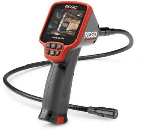 Ridgid Inspection Camera Waterproof Image Capture Cable Expandable Lcd Display